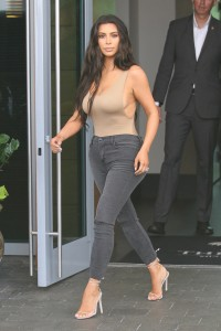 Kim Kardashian leaves hotel in style in Miami Beach