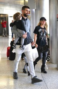 Shakira, Gerard Pique and kids arriving at Miami Airport for the Holidays
