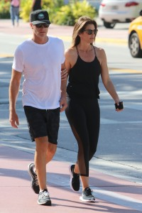 Cindy Crawford and husband Rande Gerber in Miami