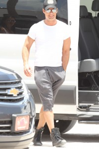 "Ricky Martin arrives to the set of American Crime Stories, ""Versace"", filming in Miami Beach"