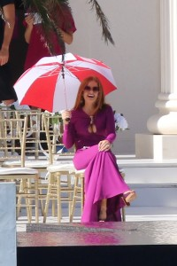 Snoop Doggy Dogg, Isla Fisher and Matthew McConaughey filming Beach Bum at Lisa Hochstein mansion in Miami Beach